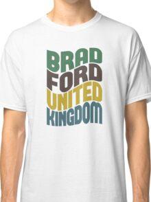 Bradford United Kingdom Retro Wave Classic T-Shirt