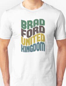 Bradford United Kingdom Retro Wave T-Shirt