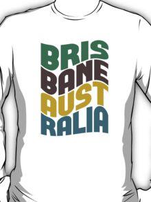 Brisbane Australia Retro Wave T-Shirt
