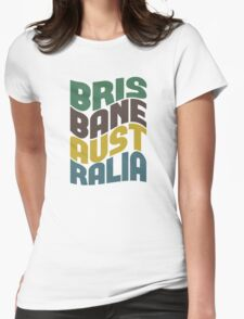 Brisbane Australia Retro Wave T-Shirt