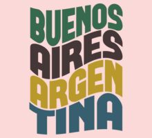 Buenos Aires Retro Wave Kids Tee