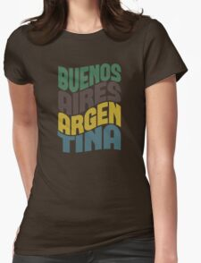 Buenos Aires Retro Wave Womens Fitted T-Shirt