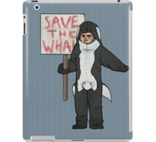 Save the Whales Cas iPad Case/Skin