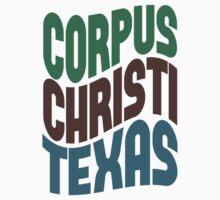 Corpus Christi Texas Retro Wave Kids Clothes