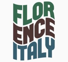 Florence Italy Retro Wave Kids Clothes