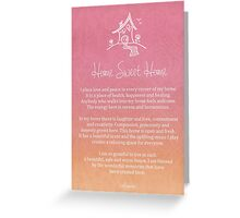 Affirmation - Home - Single Person Greeting Card