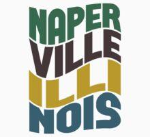 Naperville Illinois Retro Wave Kids Clothes