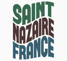 Saint Nazaire France Retro Wave Kids Clothes