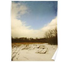 Old Woman Creek - Snowy Meadow Poster