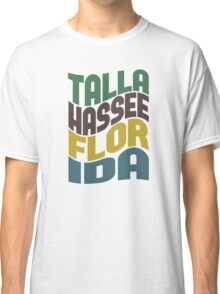 Tallahassee Florida Retro Wave Classic T-Shirt