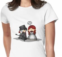 This is wedding or ....?? Womens Fitted T-Shirt