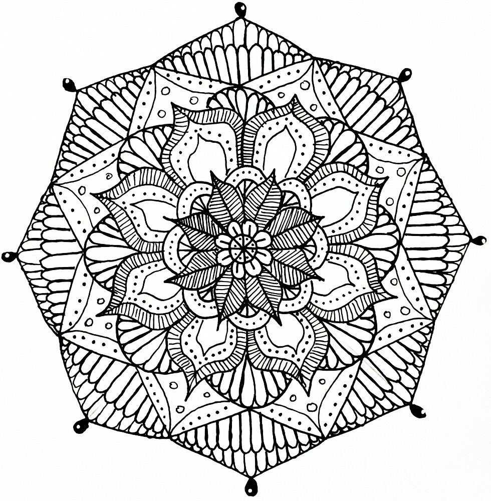 Quot Black And White Mandala Design Quot By Art And Soul Redbubble