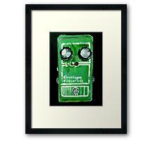 Radiohead Envelope Filter Guitar Pedal Fine Art Print Of Acrylic Painting Framed Print