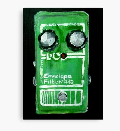 Radiohead Envelope Filter Guitar Pedal Fine Art Print Of Acrylic Painting Canvas Print