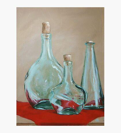 Three Bottles Photographic Print