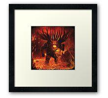 Hell monster devil satan artwork Framed Print