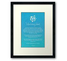 Affirmation - Volunteering Heart Framed Print