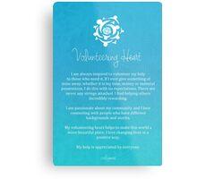 Affirmation - Volunteering Heart Metal Print