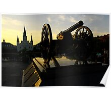 Jackson Square at sunset Poster