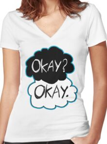 Okay? Okay.  Women's Fitted V-Neck T-Shirt