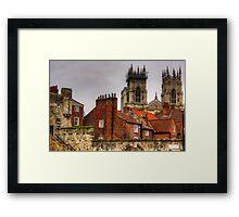 The rooftops of York Framed Print