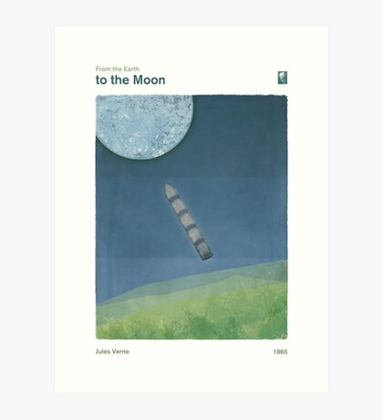 From the Earth to the Moon - Jules Verne Art Print