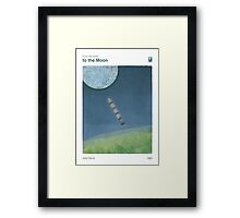 """Jules Verne """"From the Earth to the Moon"""" Framed Print"""
