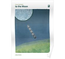"Jules Verne ""From the Earth to the Moon"" Poster"