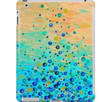 WHAT GOES UP Cheerful Water Bubbles Abstract Aquatic Pattern Cute Turquoise Blue Circles Acrylic Painting iPad Case/Skin