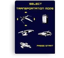 Sci-fi Transportation Modes 1 Canvas Print