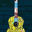 License Plate Art Guitar Edition 2 by designturnpike