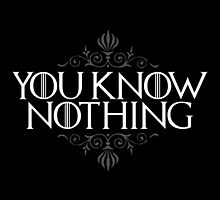 You Know Nothing (GAME OF THRONES) by baridesign