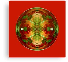 Amazed on red Canvas Print