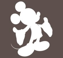 White Mickey Mouse Silhouette by BethannieeJ