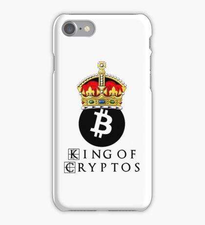 Bitcoin King Of Cryptos iPhone Case/Skin