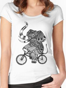 Funny Elephant Women's Fitted Scoop T-Shirt