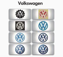 Volkswagen Logos One Piece - Long Sleeve