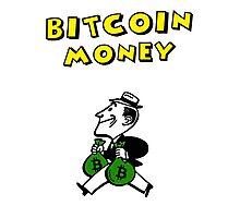 Retro Bitcoin Money T Shirt Design Photographic Print