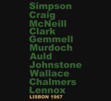Lisbon Lions 1967 - lineup T-Shirt