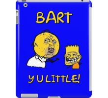 Y U Little Homer + Bart Simpson Mashup Meme iPad Case/Skin