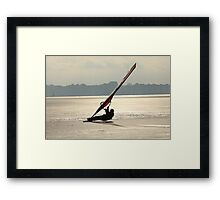 winter windsurfing Framed Print