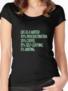 life as a writer Women's Fitted Scoop T-Shirt
