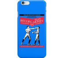 Bitcoin vs Money Boxing Fight Retro Design iPhone Case/Skin