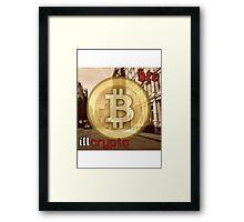 Bitcoin - BTC ill crypto Framed Print
