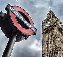 London Underground and Big Ben by Scott Anderson