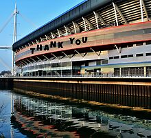 Millennium Stadium, Cardiff - Thank You Card by Paula J James