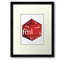 Critical Miss Framed Print