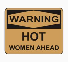 Hot Women Ahead (2 Stickers) by xouren