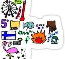 BS ABC's: F Sticker