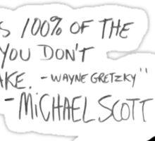 the office michael scott  Sticker